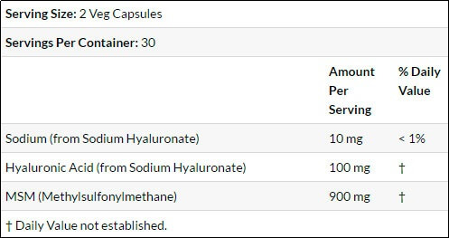 Hyaluronic-Acid-NOW-supplement-facts